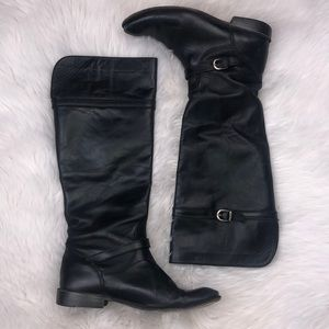 Frye Black Mid-Shaft Leather Boots